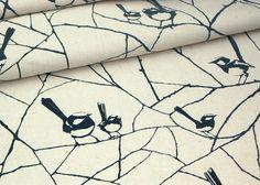 Blue Wren fabric