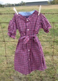 Purple dress from mens shirt