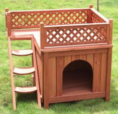 Easy Mutt Mansion   Simple affordable plans for a  room doghouse    Dog house   porch