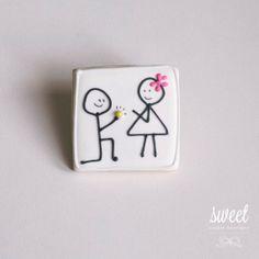 Engagement Cookie Favors // One Dozen Sugar Cookies via Etsy