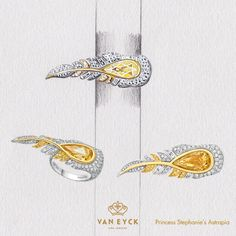 """The ring """"Princess Stephanie's Astrapia"""" from Van Eyck Jewelry"""