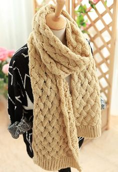 25.99 USD Warm Simple Leisure Pure Color Knit Scarf