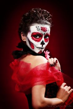 Photograph halloween make up sugar skull by Olena Zaskochenko on 500px