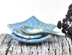 #Ceramic Condiment Dishes set of two with #handmade Pottery spoon on #Etsy by DeeDeeDeesigns