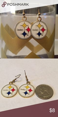 Steelers Earrings!!! Gold plated Pittsburgh Steelers earrings. Worn during the Super Bowl XL win!! Jewelry Earrings
