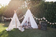 Our cute teepees - No adults allowed!