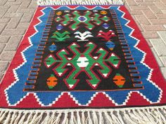 Anatolian Turkish Antalya Nomads Kilim 37 x 48 by RhythmOfTheRug Turkish Kilim Rugs, Antalya, Bohemian Rug, Antiques, Home Decor, Photos, Antiquities, Antique, Decoration Home
