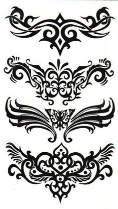 Details about 2 Tribal Line Art Flash Temporary Fake Tattoos Waterproof Power Body Transfers Tattoos that can simply be put on your body to give the illusion of having real tattoos! Tribal Line Art. Girl Back Tattoos, Back Tattoo Women, Tattoos For Women, Tribal Back Tattoos, Tribal Tattoo Designs, Cover Up Tattoos, Fake Tattoos, Body Art Tattoos, Spine Tattoos