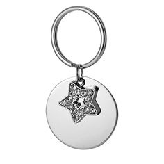 VALYRIA Stainless Steel Round Pet Tags for Dog and Cat ID Tags with Diamond Star Pendant *** To view further for this item, visit the image link.