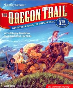 In third grade we did a project with the Oregon Trail. We had a group of people that did the trail. It was Blair, Hunter, Hunter, and Vanessa.