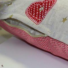Frau Pastellino: Nähen für Weihnachten - DIY eine Kissenhülle mit versteckten Reißverchluss