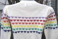 Rainbow + 80s style jumper found on Etsy - love it