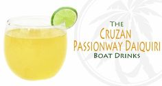 Cruzan Passionway Daiquiri -   Recipe by Jesse Card, Cruzan Master Mixologist - Ingredients:  2 parts Cruzan® Passion Fruit Rum  ½ parts Fresh Squeezed Lime  ¼ parts Fresh Squeezed Grapefruit Juice  ¼ parts DeKuyper® Cherry Liqueur  ¼ parts Rich Simple Syrup (2 parts sugar, 1 part water)  Thin Lime Wheel  - Combine all ingredients in a shaker over ice and shake vigorously for 10 seconds. Fine strain into a chilled coupe. Garnish with a thin sliced lime wheel. Raise glass and toast.