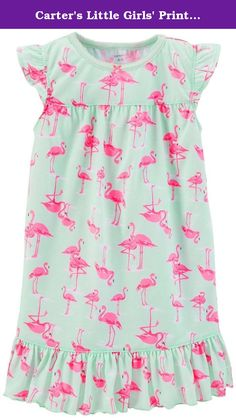 Carter's Little Girls' Print Nightgown (Toddler/Kid) - Flamingo - 2-3. Carter's Print Nightgown (Toddler/Kid) - Flamingo Carter's is the leading brand of children's clothing, gifts and accessories in America, selling more than 10 products for every child born in the U.S. Their designs are based on a heritage of quality and innovation that has earned them the trust of generations of families. Features: 100% Polyester.
