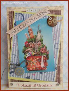 Mój świat kolorów...: Kartka dla może przyszłego podróżnika...