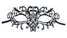 Metal Venetian Mask Black 'Justine' - Click Image to Close Masquerade Mask Template, Lace Masquerade Masks, Lace Patterns, Print Patterns, Venitian Mask, Venice Mask, Lace Mask, Beautiful Mask, Carnival Masks