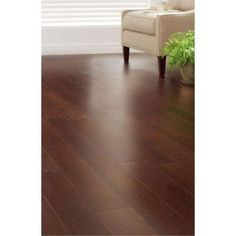 Home Decorators Collection Strand Woven Dark Mahogany 3/8 in. x 5-1/8 in. Wide x 36 in. Length Click Engineered Bamboo Flooring (25.625 sq.ft/case)-AM1311E - The Home Depot