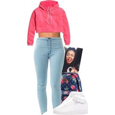 A fashion look from September 2014 featuring HM hoodies, NLY Accessories jewelry and NIKE shoes. Browse and shop related looks.