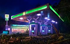 david lachapelle scales models of refineries and gas stations - designboom | architecture & design magazine