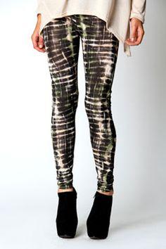 Leesa Khaki Printed Leggings