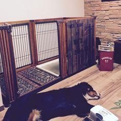 犬 ゲージ/スノコで目隠し…などのインテリア実例 - 2015-09-07 08:13:28