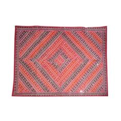 Amazon.com: Asian Decor- Red Blue Moti Beaded Embroidered Tapestry... ($75) via Polyvore