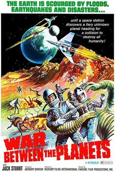 War Between The Planets - 1966 - Movie Poster Magnet Classic Sci Fi Movies, Classic Movie Posters, Original Movie Posters, Movie Poster Art, Poster Poster, Horror Movie Posters, Sci Fi Horror Movies, Sci Fi Films, Cinema Movies