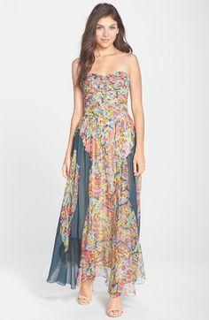308ef582300 Charlie Jade Strapless Silk Chiffon Maxi Dress