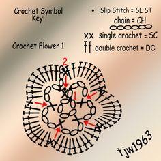 patterns, crochet flower, free instruct, crochet geek, granny squares, granni squar, knit, crochet pattern, crochet triangl