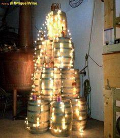 #Wine Barrel #Christmas Tree!