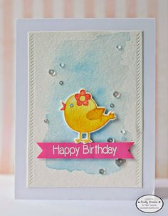 Paper Sweeties, PiecesbyEmily, Hello Friend, Hippity Hoppity Easter Wishes, handmade card, birthday card