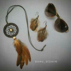 Dream Catcher For Car, Dream Catchers, Dream Catcher Necklace, Pendant, Ideas, Bead Jewelry, Strands, Decoration Crafts, Dreamcatchers