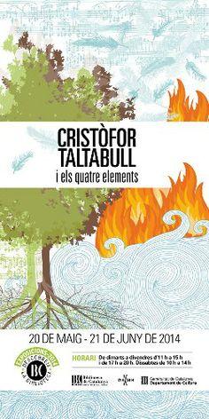 """Exposició """"Cristòfor Taltabull i els quatre elements"""" a la Biblioteca de Catalunya (maig - juny 2014)"""