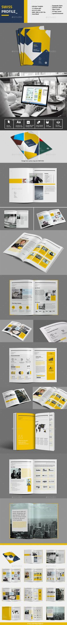 Swiss Profile Template #design Download: http://graphicriver.net/item/swiss-profile-template/12624629?ref=ksioks