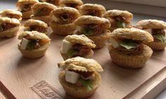 Sýrovo-cuketové cupcakes se sušenými rajčaty a bazalkou