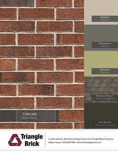 Best exterior paint colours for house with brick ranch shutters 46 Ideas Exterior Color Schemes, Exterior Paint Colors For House, Paint Colors For Home, Paint Colours, Roof Colors, Brick Colors, Orange Brick Houses, Red Brick Exteriors, Pintura Exterior