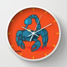 funny zodiac/scorpio Wall Clock by mangulica - $30.00