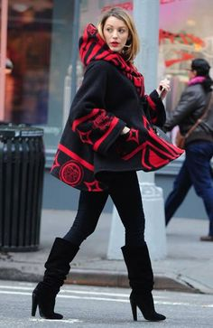 Pregnant Blake Lively wrapped up as she stepped out in New York on Tuesday.