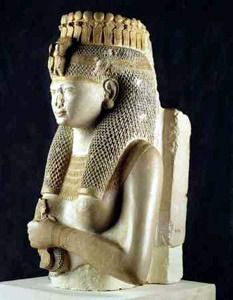 """jeannepompadour: """" Fragmented statue of Princess Meritamen, daughter and Great Royal Wife of Ramesses the Great """""""
