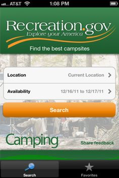 FREE, essential app for reserving campgrounds!