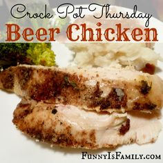 This Crock Pot Beer Chicken recipe is incredibly easy, and it makes an excellent gravy☻