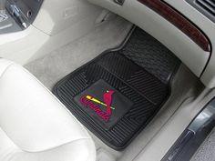 "MLB - St. Louis Cardinals Heavy Duty 2-Piece Vinyl Car Mats 17""x27"""
