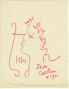 Orpheus (1960) – Jean Cocteau Line Sketch, Continuous Line Drawing, Drawing Sketches, Drawings, Jean Cocteau, Z Arts, Simple Lines, French Artists, Tatoo
