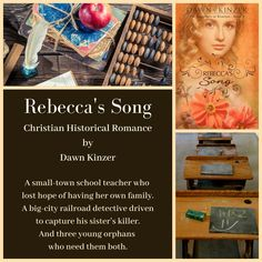 Rebecca's Song (The Daughters of Riverton, Book 3) is now available on Amazon (e-book and paperback) and in paperback on other online sites! This Christian Historical Romance can be read as a stand-alone. Discussion questions included.