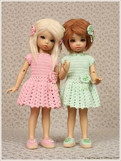 My girls are ready to welcome summer! Welcome Summer, Mint Green Dress, Green Fashion, Bjd, Fashion Dolls, My Girl, Barbie, Flower Girl Dresses, Wedding Dresses