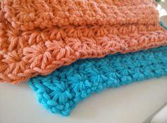 Billedresultat for strik dine egne vaskeklude Free Crochet, Knit Crochet, Crochet Kitchen, Star Stitch, Homemade Jewelry, Merino Wool Blanket, Projects To Try, Crochet Patterns, Sewing