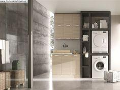 Mobile per Bagno e lavanderia . Mille idee per arredare lo spazio bagno includendo lavatrice e lava asciuga