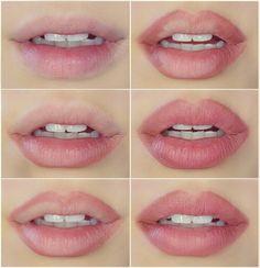 The no makeup look: natural looking pink lips