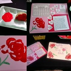 Little Flowers Girls Club St. Therese Activity/Craft page.