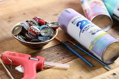 Watch how easy it is to transform boring bottle caps into stunning garden decor